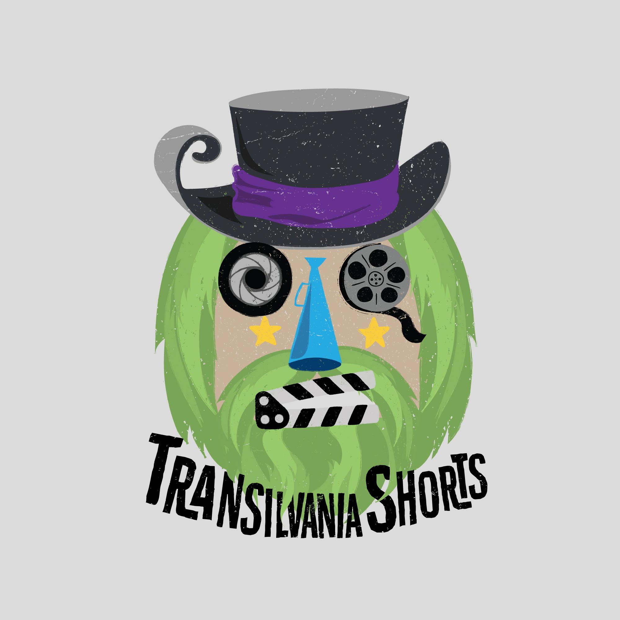 Logo-Transilvania-Shorts var gri