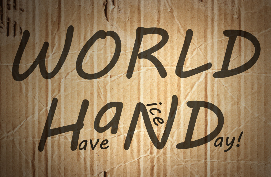 World, HAND logo