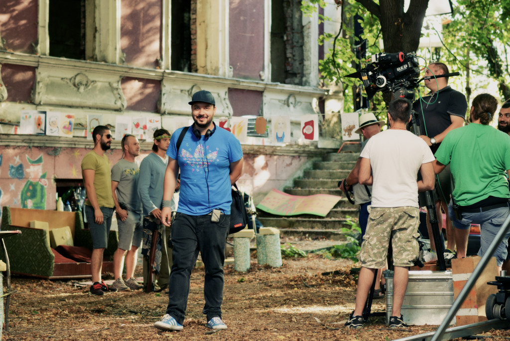 Alecs Nastoiu while shooting Billion Star Hotel