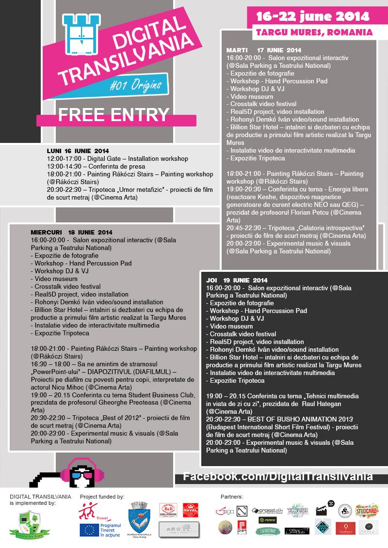 PROGRAM DIGITAL TRANSILVANIA 16-22 IUNIE 2014