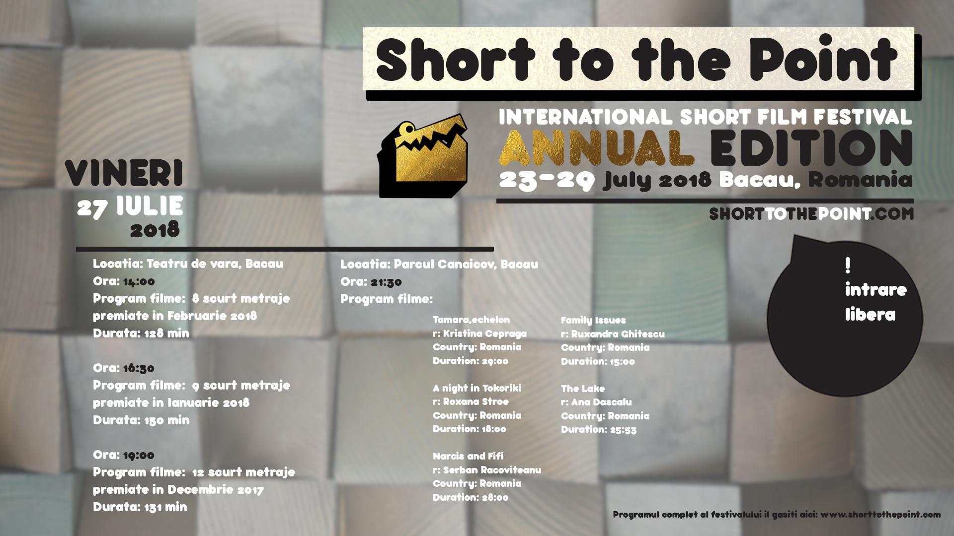 Vineri 27 Iulie 2018 – Teatru de vara si Parcul Cancicov [STTP Annual Edition]